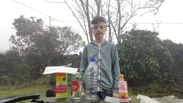 diy bottle rocket experiment