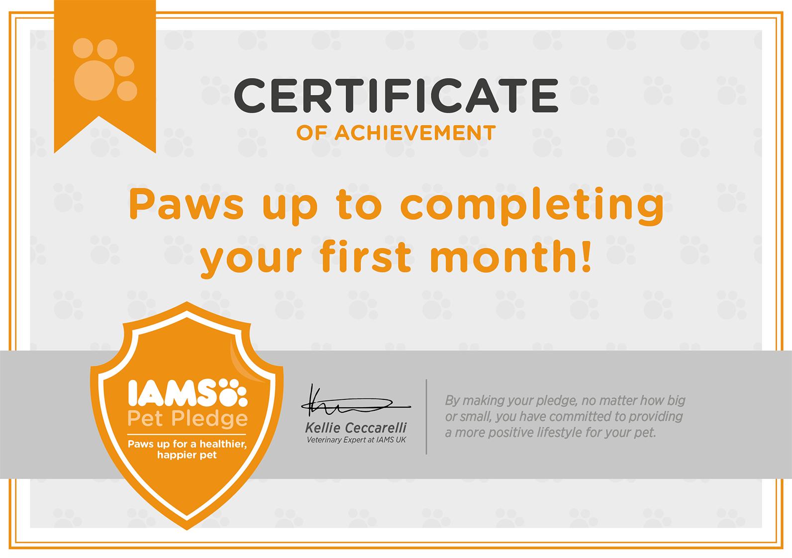 IAMS pet pledge